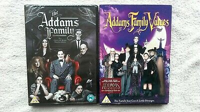 The Addams / Adams Family 1 + 2 Values Dvd Bundle Uk R2 Brand New Sealed