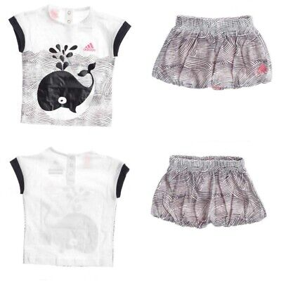 Adidas Infant Baby Girls Outfit Top Skirt age 6-9 Months