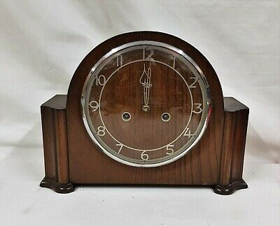 Smiths Enfield 1950s Wooden Chiming Mantel Clock