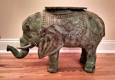Extraordinary, Very Large Antique Bronze Indian Elephant Religious artifact