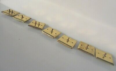 Late Vintage Brass Light Switch Art Deco STYLE Old Toggle Retro Switches Job Lot