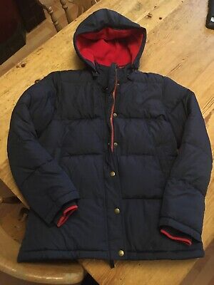 Mini Boden Padded Boys Jacket 13-14 Year's Navy Blue/red Very Warm