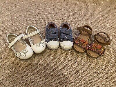 Bundle Of Girls Shoes Size 5, 5.5 And 6 - 2 Next And Mothercare