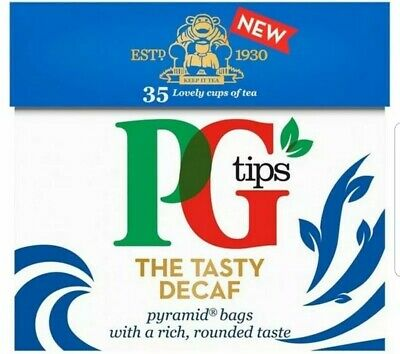 PG Tips Decaf Decaffeinated 210 Pyramid Tea Bags (6X35) ONLY £10.99 FREE P&P