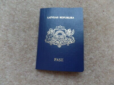 RARE Vintage Collection Latvian Official Passport EXPIRE 2047, USED CONDITION.