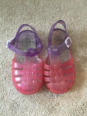 Pink Purple Glitter Girls Jelly Shoes Infant Size 6 EU25