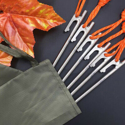 10pcs aluminum alloy tent pegs square nail stakes hook pin nails camping 16cm JD
