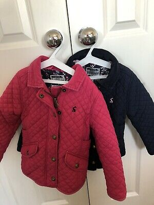 Joules Girls Quilted Coat Jacket X2 Padded Age 4 Years Blue Pink
