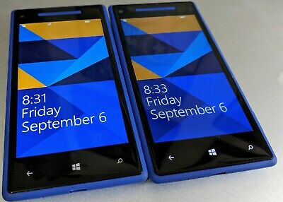 HTC Windows Phone 8X - 8GB - Blue (AT&T) Smartphone, Lot 2 with Power Issues