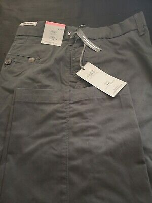 Marks & Spencer Super Light Regular Fit Chinos,BNWT, Charcoal Color RRP£39