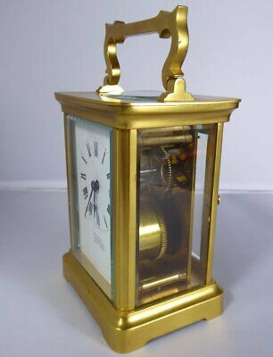 Antique French Brass Carriage Clock By Duverdrey & Bloquel For Harrods London