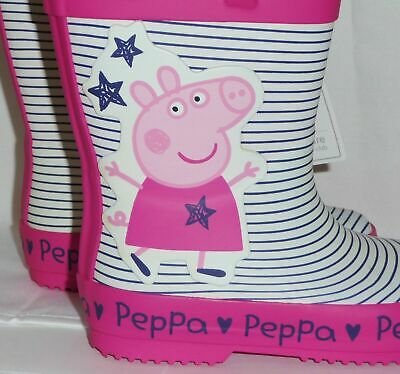 Girls Official Ex-Mothercare Peppa Pig Pink Wellies Size 4-7 Brand New with Tags