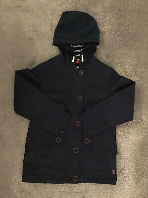 🌸JOULES Girls French Navy Blue Hooded Jacket Coat Age 7-8 Years Premium Grade🌸