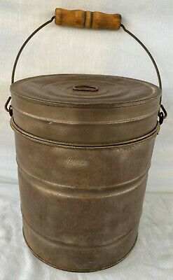 *Old Vintage Tin Metal Penco Miners / Railroad Worker Lunch Bucket / Pail / Box*