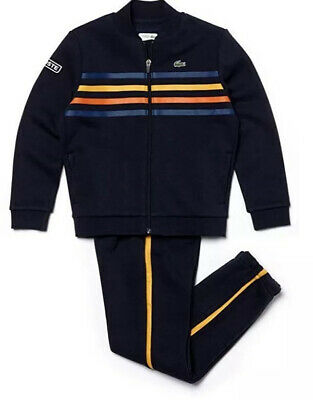 boys lacoste Navy ,Yellow & Orange tracksuit Aged 16 Years BNWT RRP £150