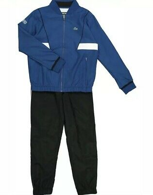 boys lacoste Blue & White tracksuit Aged 12 Years BNWT RRP £150