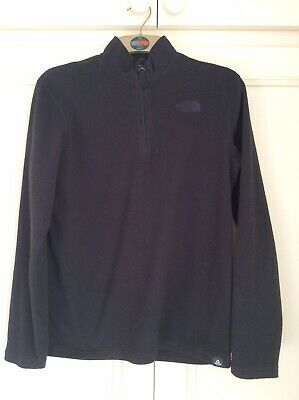 THE NORTH FACE Black Polartec Micro Fleece 1/4 Zip LG Youth Junior Small Ladies