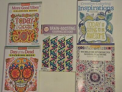 Adult Coloring Book Color Flowers, Skulls, Paisley Patterns, Animals & More