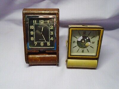 Vintage Lecoultre/Jaeger Travel Clocks For Spares Or Repairs