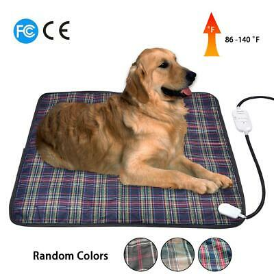 Pet Dog Cat Warmer Bed Heating Warming Blanket Electric Heat Pad Mat 60x60CM