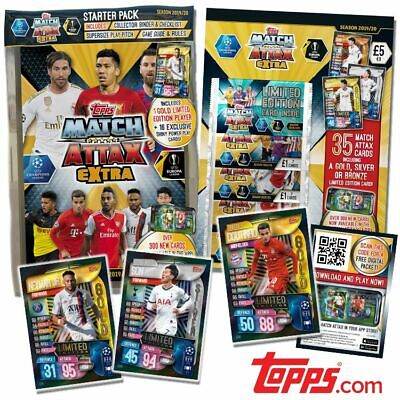 2020 Match Attax Extra UEFA Soccer Cards - Starter Packs, Mini/Mega Tins, Packet