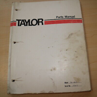 TAYLOR TE-1805 Forklift truck Parts Guide Manual book lift truck catalog spare
