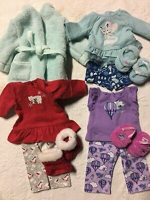 EUC Retired American Girl Doll Truly Me Pajamas and Robe Lot