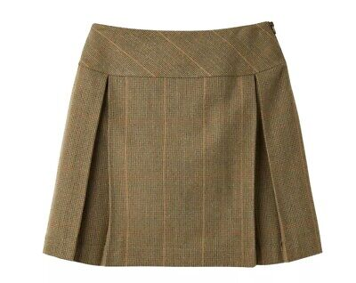 Joules Aggie Green Tweed Skirt Mr Toad Size 18