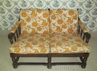 Ethan Allen Royal Charter Oak Collection Upholstered Love Seat 16 7462