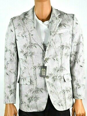 Tasso Elba Island Grey Sports Coat Blazer S M L XL XXL New Linen Tree Design