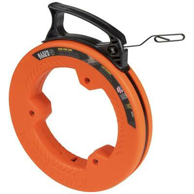 Klein Tools Fish Tape Electrical Cable Puller Multi Grip Handle Tool 50 Ft Steel