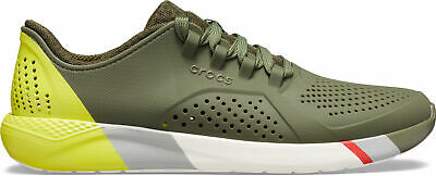 NEW Genuine Crocs Men LiteRide Colorblock Pacer M Army Green/White