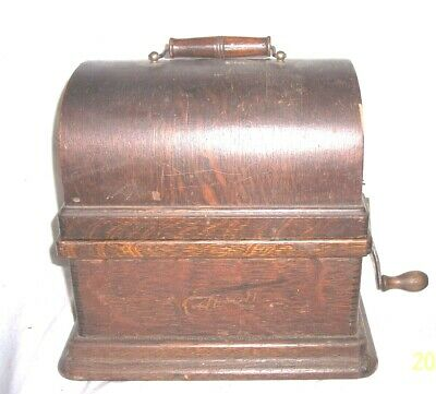 Edison Fireside 2 And 4 Minute Cylinder Phonograph
