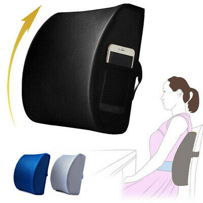 Memory Foam Lumbar Back Support Cushion Pillow Home Car Office Seat Chairs