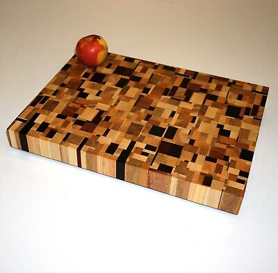 Random Pattern End Grain Cutting Board Chopping Block 40x30x4 cm