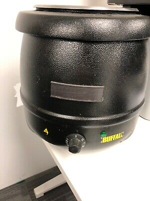 Buffalo Black Soup Kettle 10 litre  ltr Hinged Lid - L715  Catering Commercial