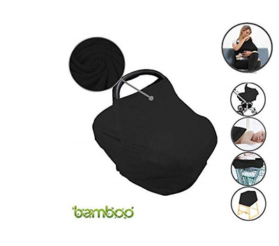 Bamboo Breastfeeding Baby Nursing Cover Infant Stroller Car seat Scarf Canopy