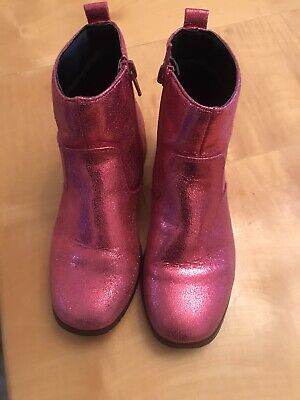 Girls Shiny Pink Coloured Uk Size 13 NEXT Chelsea Boots