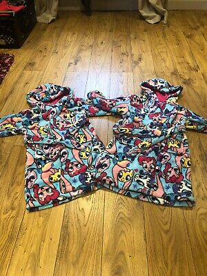 Twin Girls My Little Pony Fleece Dressing Gown Robes Age 3-4