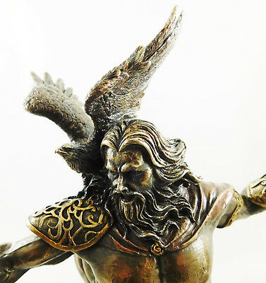 Zeus King of the Gods Figure Statue Greek Mythology Figurine Bronzed Sculpture