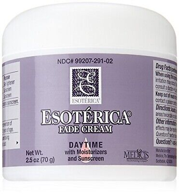 Esoterica Fade Cream Daytime with Moisturizers and Sunscreen, One 2.5 Ounce Jar