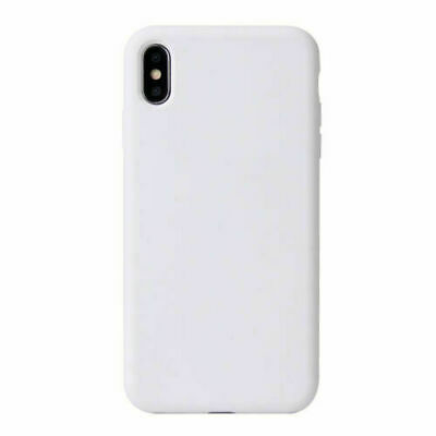 For iPhone XR White Ultra-Thin Liquid Rubber Silicone Case Cover BNIP