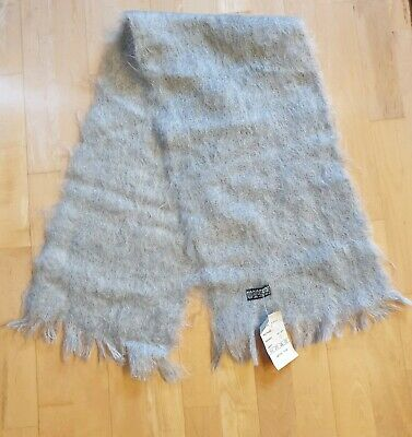 Grey Mohair scarf/ new