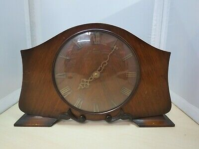 Vintage Smiths 7 Jewels Mantle Clock Spares or Repairs - 4B