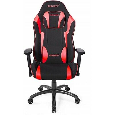AKRacing Core Series Chair Red Fabric And Upholstery Xl Pillows