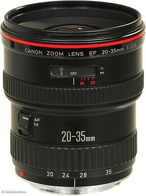 Canon EF 20-35mm f2.8 L Wide Angle Zoom Lens prime L Series camera lens mint
