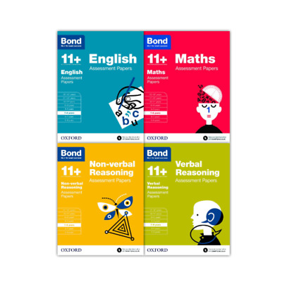Bond 11+ English 4 Books Set Ages 7-8 Inc Assessment and Tests