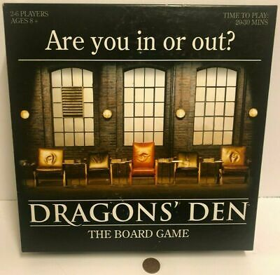 Dragon's Den: The Board Game, 2010 2-6 players, ages 8+ ~Perfect~
