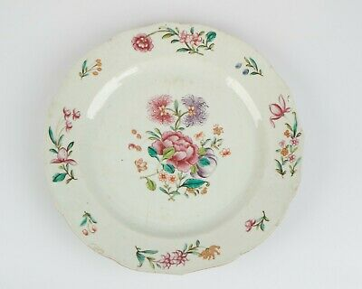 Antique 18th century Chinese Famille Rose porcelain plate