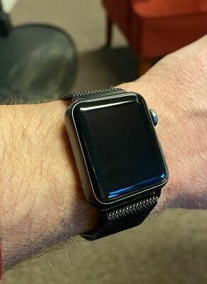 Apple Watch Series 1 38mm Space Gray Aluminum Case Black Sport Band (MP022LL/A)